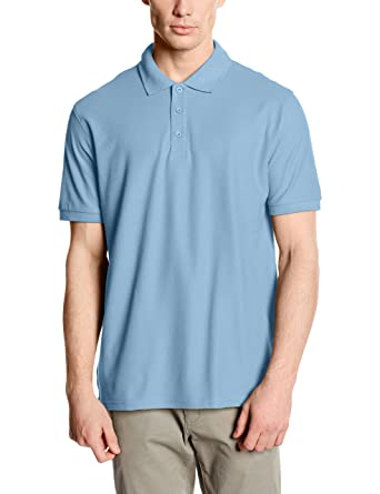 Fruit of the Loom SS034 - Polo - Homme - Bleu (Sky Blue/White) - Taille: XL GYgzE