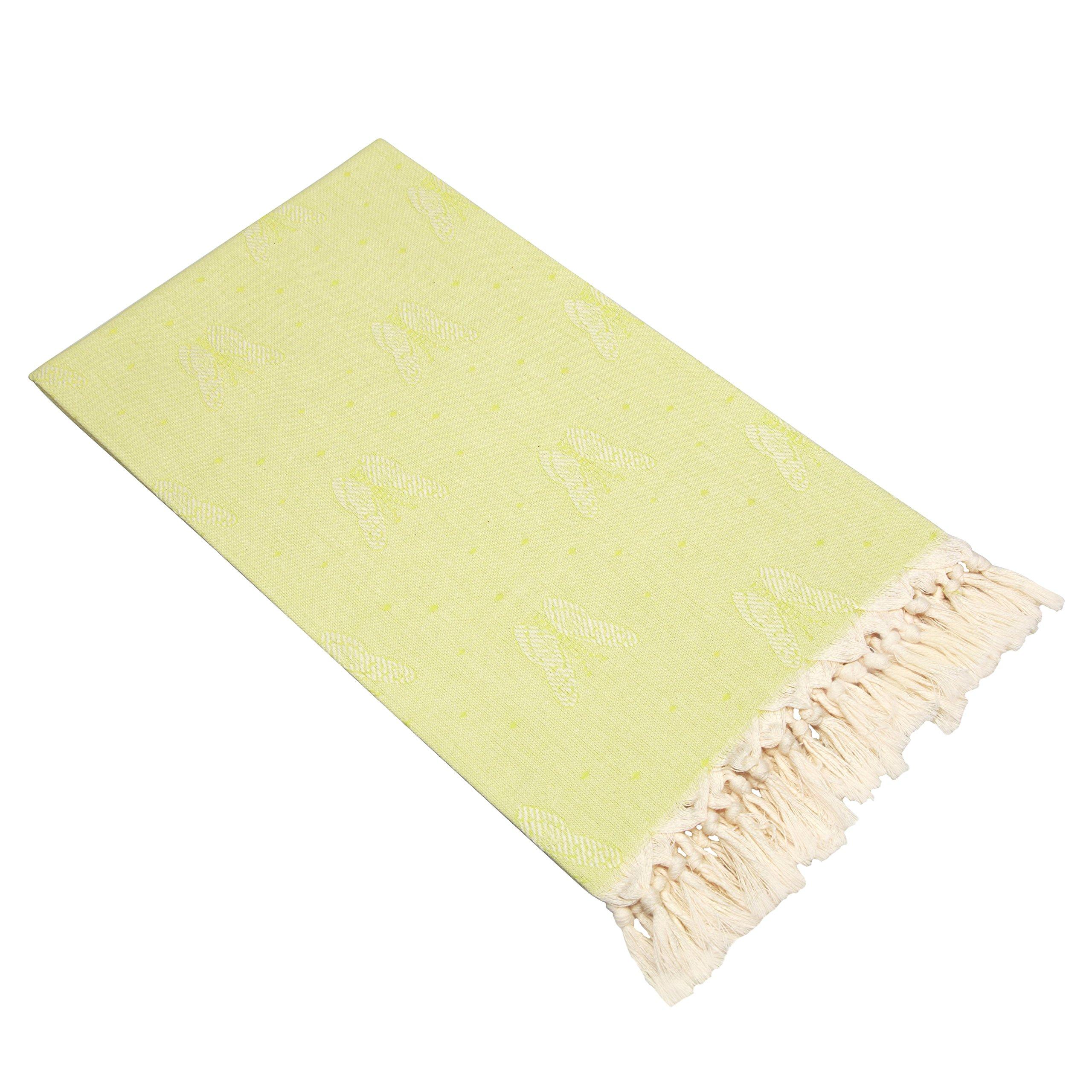 Linum Home Textiles Butterfly Pestemal Towel, Pistachio Green