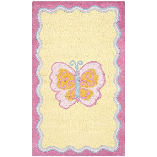 Safavieh Safavieh Kids Collection SFK394A Handmade Multi and Pink Cotton Area Rug 3 x 5