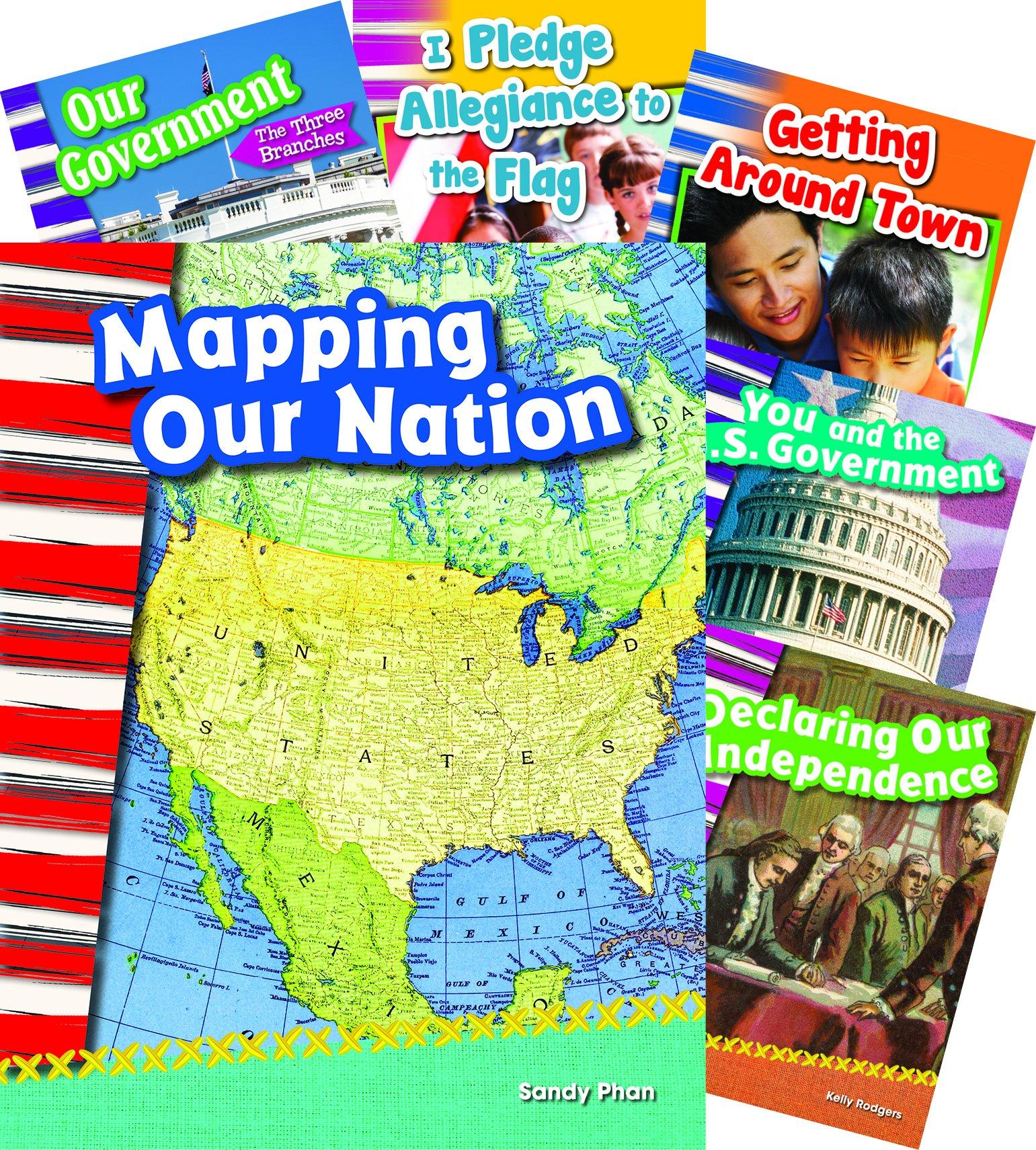 US Symbols Map Government 7-Book Set (Social Studies Readers)
