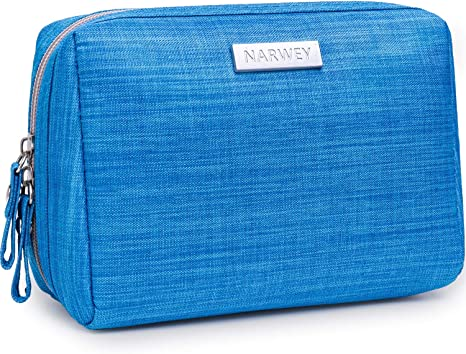 Small Makeup Bag for Purse Travel Makeup Pouch Mini Cosmetic Bag for Women Girls (Small, Blue)