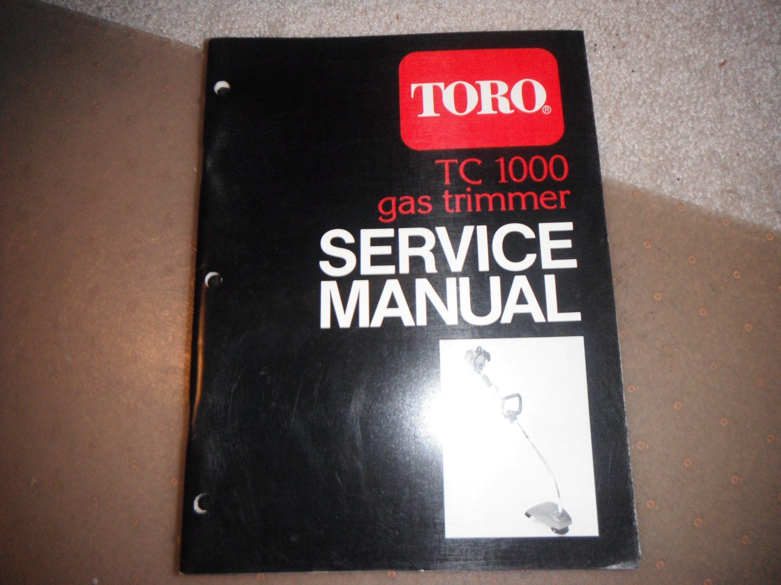 Toro gas trimmer manual toro tc1000 gas trimmer service manual array toro tc 1000 gas trimmer service manual 1987 toro corporation rh amazon com fandeluxe Images