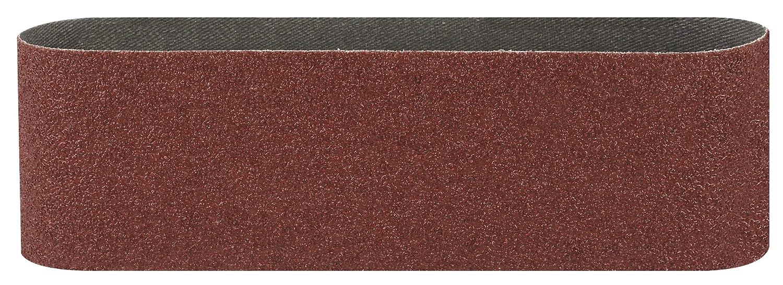 Bosch 2 609 256 221 - Juego de hojas de lija de 3 piezas para lijadora de banda, calidad roja (pack de 3) 2609256221