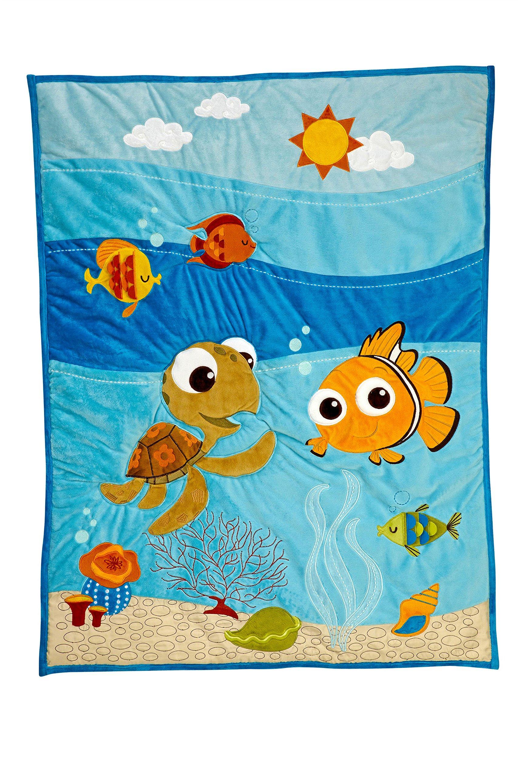 Disney Finding Nemo Applique Luxury Quilt (Crib Comforter Only)