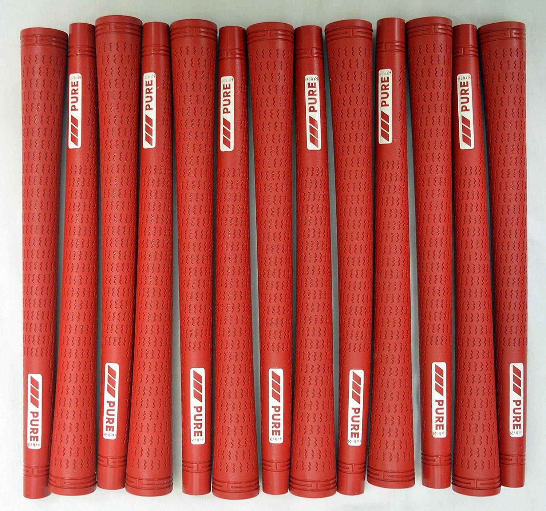 13 Pure Proゴルフグリップ – 標準 – Red – Includes Bramptonグリップキット B01JVCSN5G