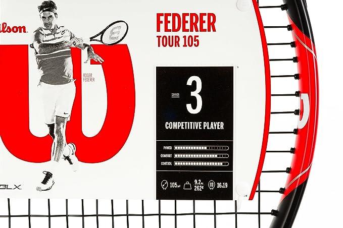 Wilson Federer Tour Raqueta de Tenis, Unisex Adulto
