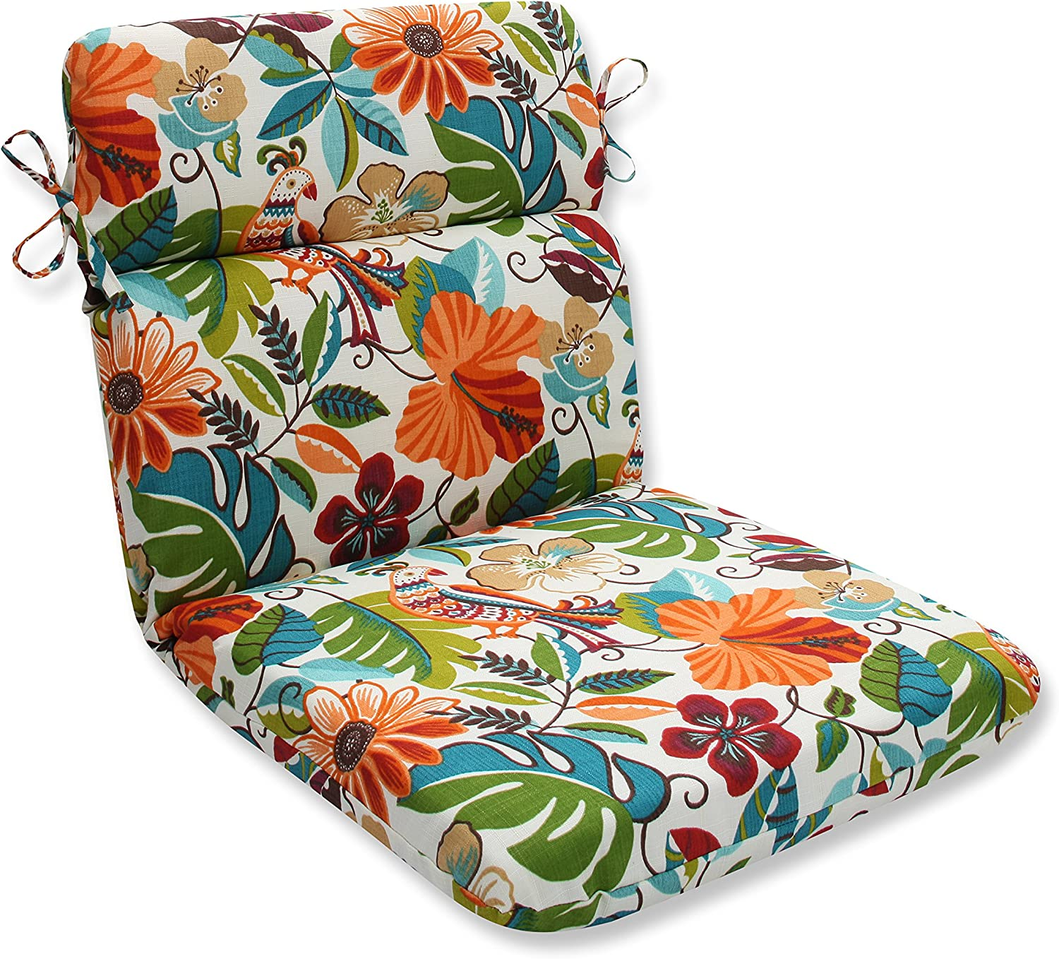 Pillow Perfect Outdoor Indoor Lensing Jungle Rounded Corners Chair Cushion
