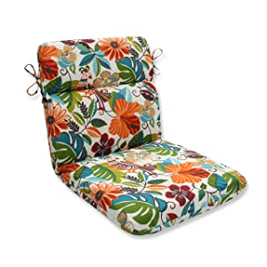 Pillow Perfect Outdoor/Indoor Lensing Jungle Rounded Corners Chair Cushion