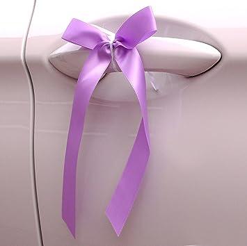Einssein 5x Autoschleifen Baisc Flieder Hochzeit Autobander Autodeko