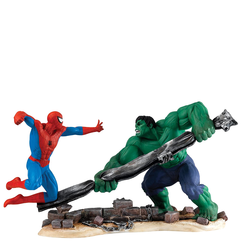 ENESCO A27606 Marvel Marvel Marvel Spider Man Vs Hulk Figurine, Stein, Mehrfarbig, 21 x 49 x 28 cm 7c8b71