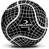 Millenti Soccer Balls Size 5 - ProGrid Official Match Soccer Ball with High-Visibility, Easy-to-Track Designs, Black, SB0905B