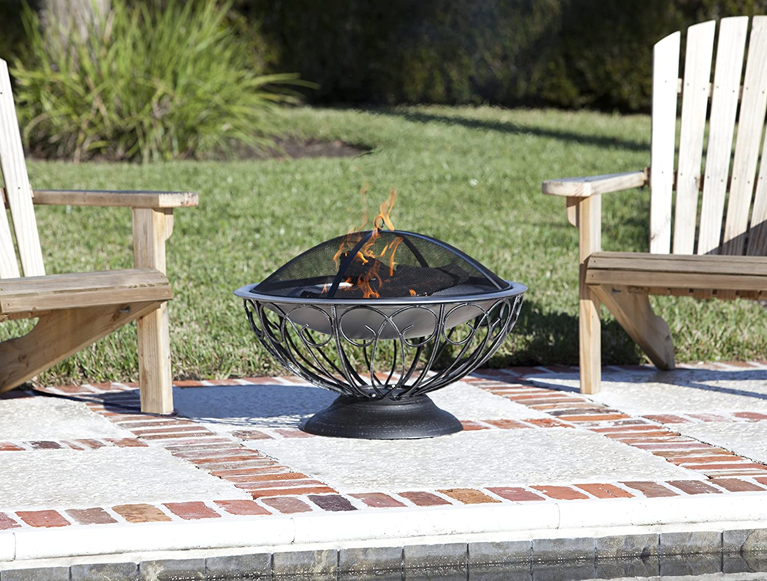 Amazon.com : Fire Sense Stainless Steel Urn Fire Pit : Outdoor Fireplaces :  Garden U0026 Outdoor