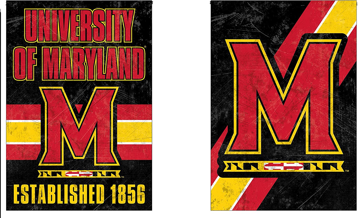 WinCraft Maryland Terrapins Garden Flag, Vintage Distressed Edition 12.5 x 18 inches 2 Sided