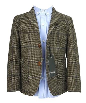 265b507fd Couche TOT Kids Herringbone Tweed 4 Piece Wool Suit in Brown and Navy Blue:  Amazon.co.uk: Clothing