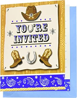 Amazon Com Invite108 Cowboy Party Invitations Fill In Party