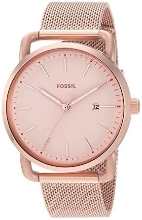 893513784095 Fossil Women s The The Commuter Quartz Stainless Steel Mesh Casual Watch  Strap