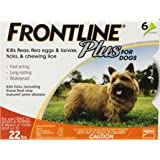 Frontline DFRSMPLUS6 6-Pack 11 to 22-Pound Plus Dog Flea and Tick Treatment, Small, Orange