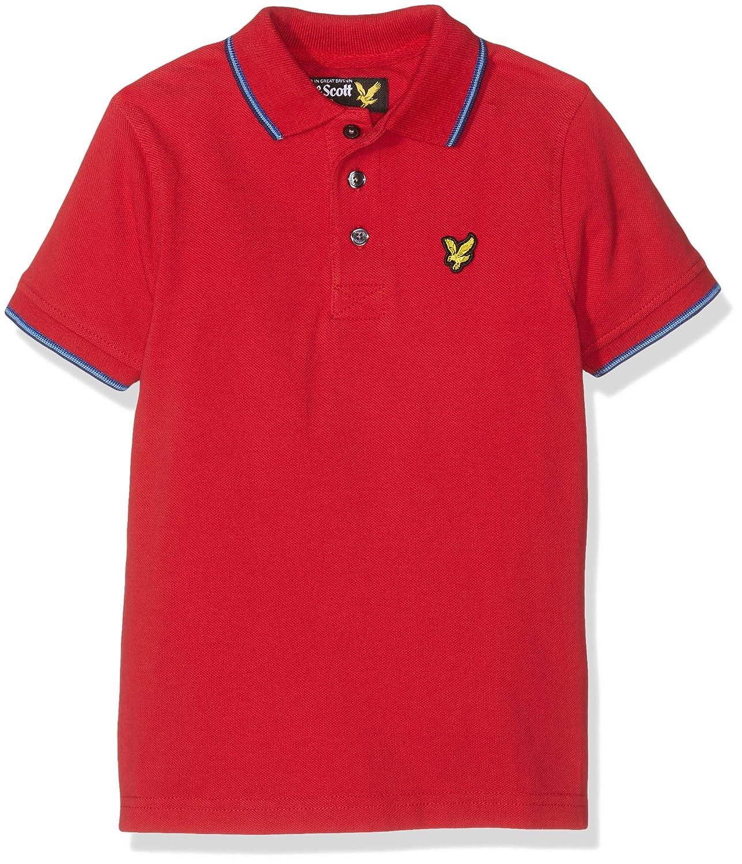 Lyle & Scott Classic Tipped Polo, Niñas, Rojo (Royal Red/Harbour ...