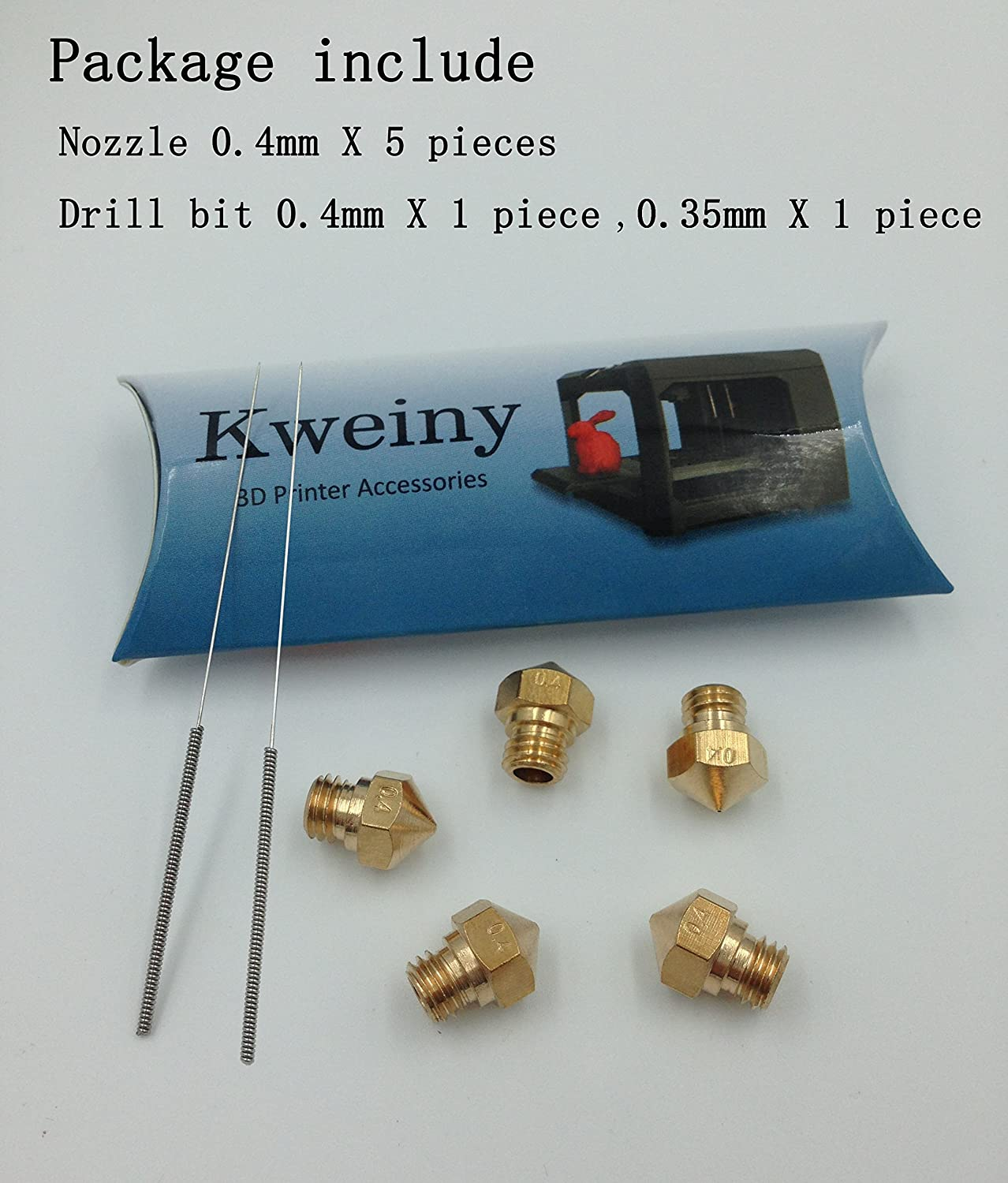 Amazon.com: Kweiny MK10 Hotend Kit para impresora 3D ...