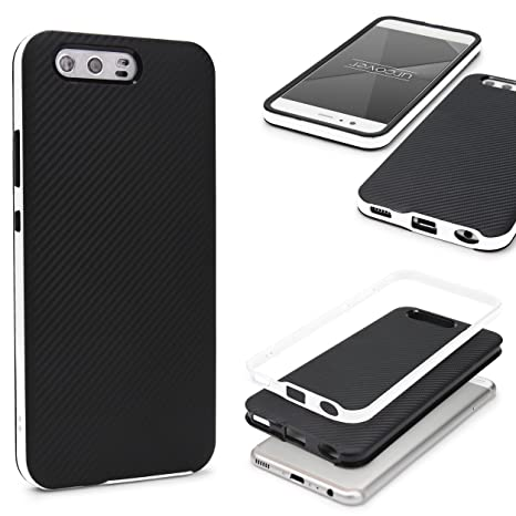 Urcover® Funda P10, Optica Carbon Hybrid Back-Case [Doble ...