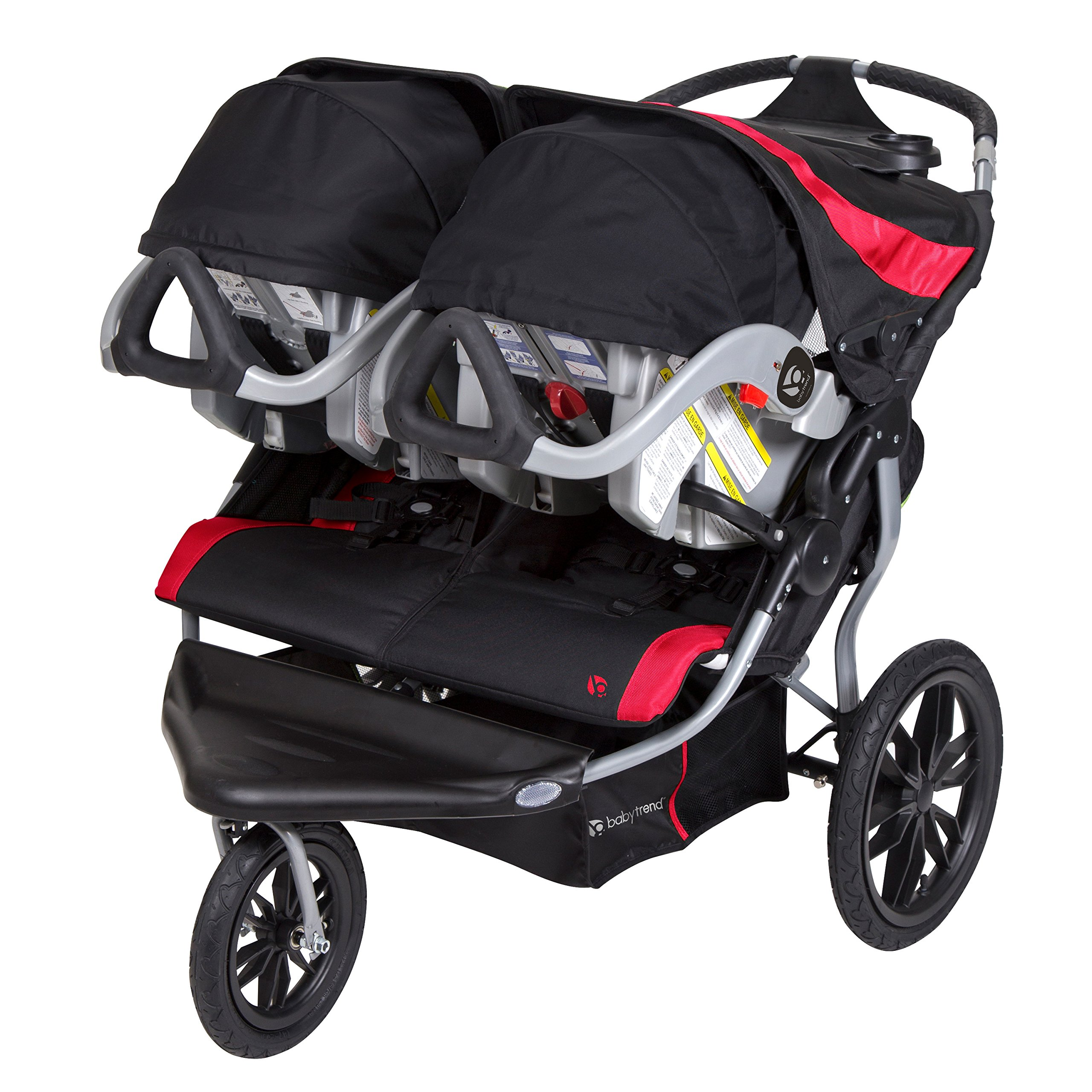 Baby Trend Navigator Lite Double Jogger Stroller, Candy Apple by Baby Trend (Image #2)