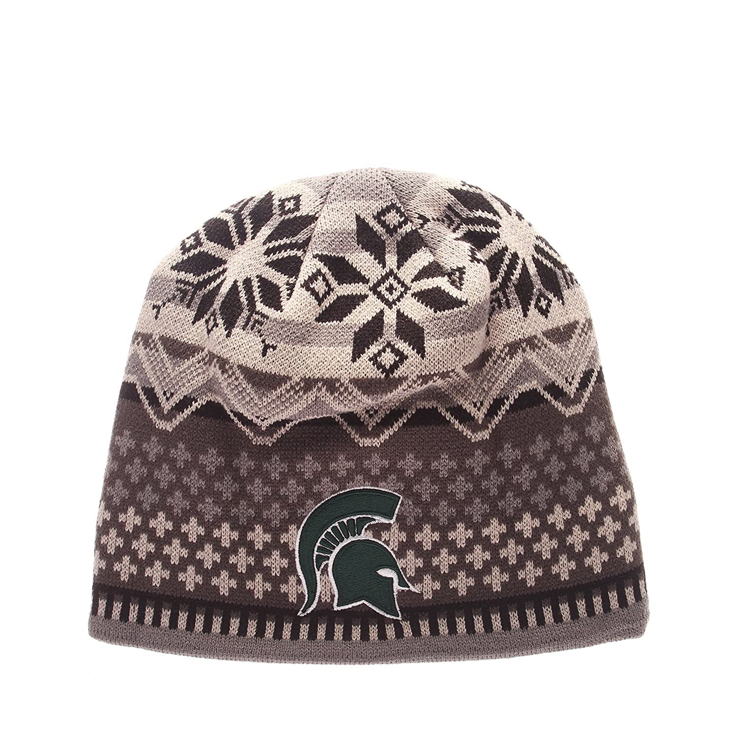 One Size Black//Gray NCAA Michigan State Spartans Mens Oslo Knit Beanie