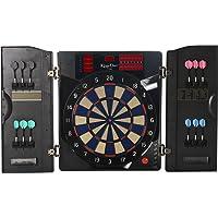Kings Dart E-Dartscheibe Pro Dart   Elektronisches Dartkabinett für Anfänger u. Fortgeschrittene  Original Turniergröße   Bis zu 8 Spieler   Mit 38 Spiele   59x50 cm