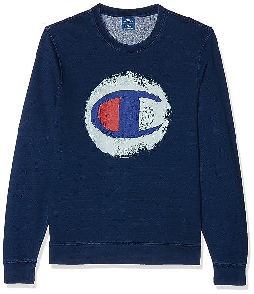 Champion Sweatshirts-American Classics Indigo, Sudadera para Hombre: Amazon.es: Ropa y accesorios