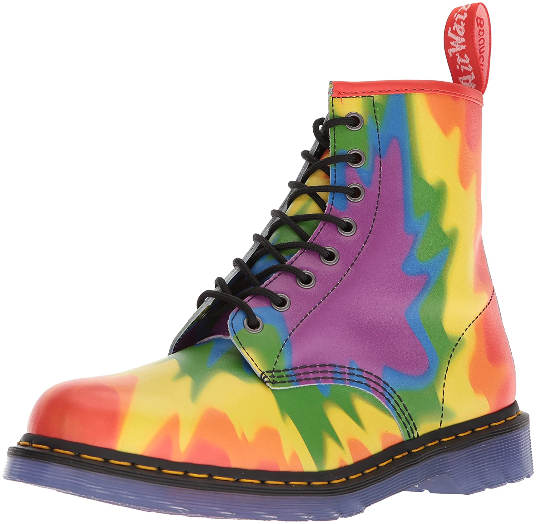 Mehrfarbig (Pride Tie-dye Print 102) Dr. Martens Unisex-Erwachsene 1460 Combat Stiefel