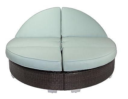 Prime Amazon Com Patio Heaven Sb Rc2 5421 Signature Round Double Beatyapartments Chair Design Images Beatyapartmentscom
