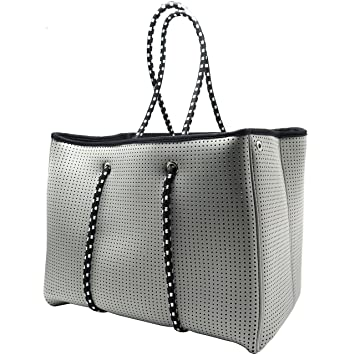4f66413a87 Amazon.com  Neoprene Beach Bag tote - Large Daily Mesh Bag by Penn   Soph  (Grey)  Lazy Dog Warehouse