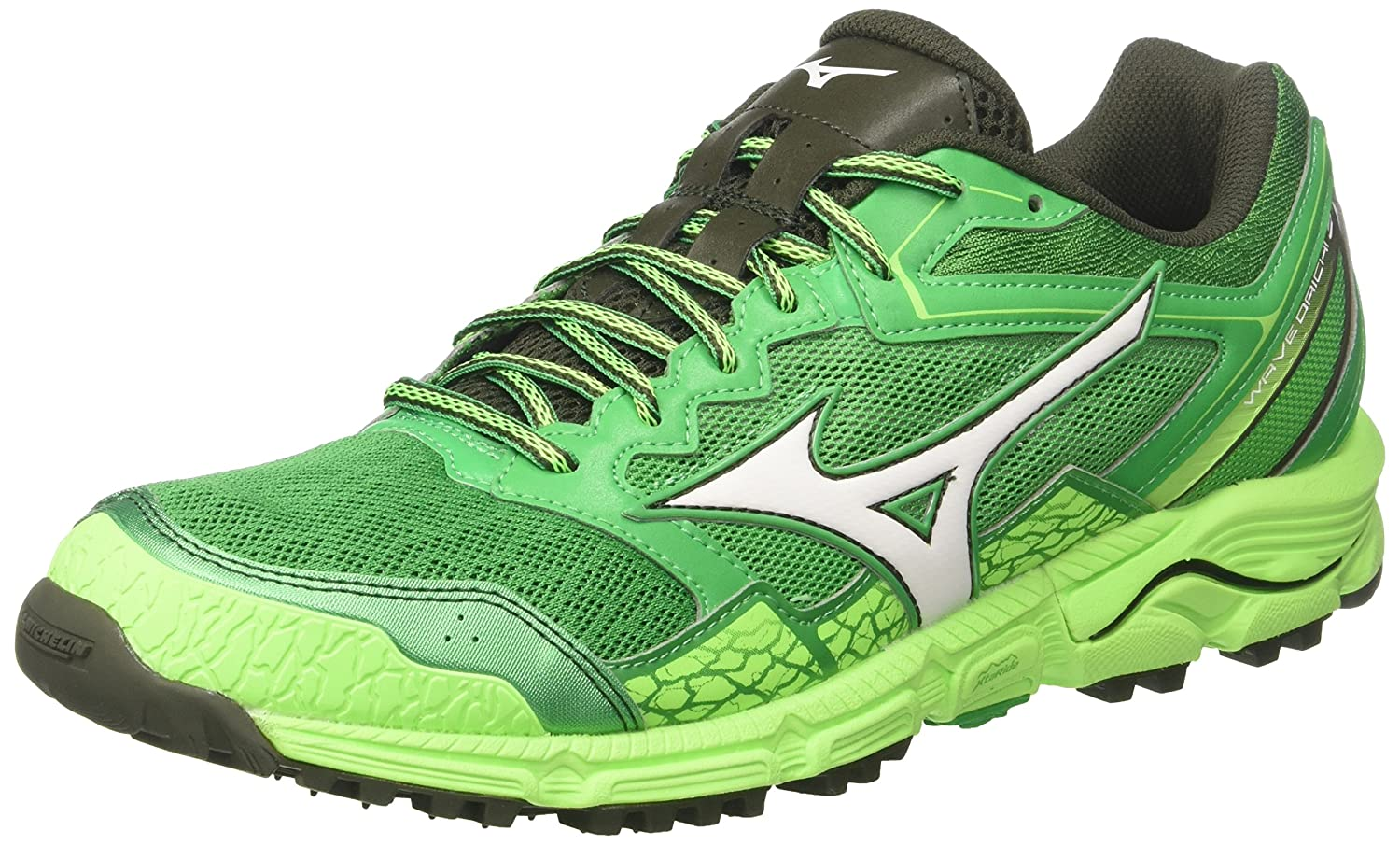 Mizuno Wave Daichi 3, Zapatillas de Running para Hombre 44 EU|Multicolor (Brightgreen/White/Greengecko 01)
