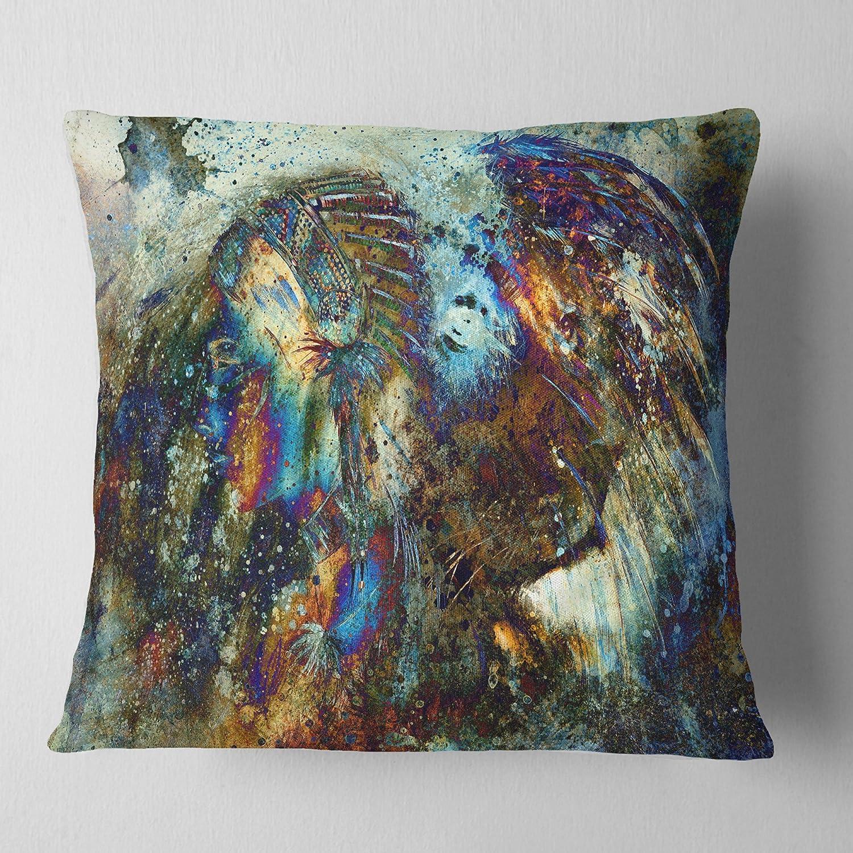 ArtVerse Katelyn Smith 18 x 18 Indoor//Outdoor UV Properties-Waterproof and Mildew Proof Ohio Love Watercolor Pillow