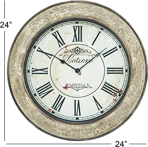 Deco 79 53818 Wood Wall Clock, 24