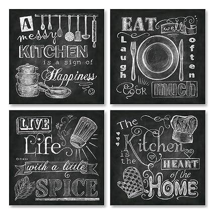Amazon Com Gango Home Decor Beautiful Fun Chalkboard Kitchen