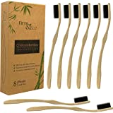 Eco-friendly, Natural Charcoal Bamboo Toothbrush for Adults | 8 Pack