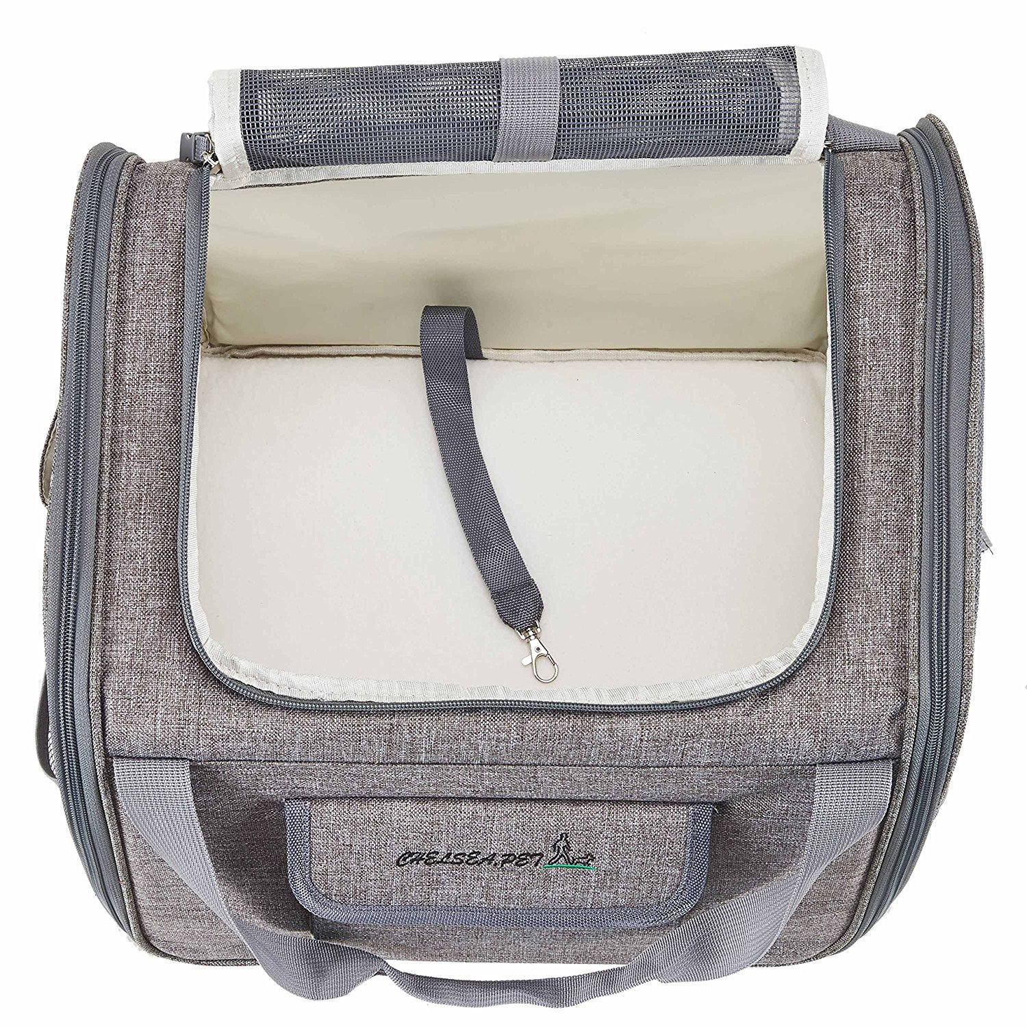 Decoroom Pet Car Seat Carrier Dog Cat Lookout Booster Seat Soft-Sided Foldable Puppy Travel Bag Light Gray by Decoroom (Image #6)