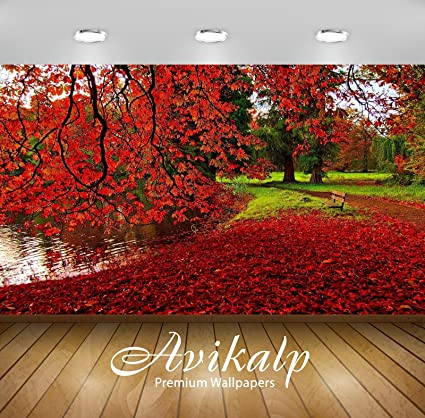 Buy Avikalp Exclusive Awi3261 Autumn Nature Beauty With Red