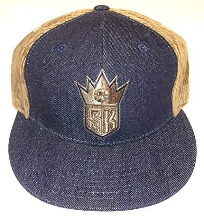 b9605bf2 Image Unavailable. Image not available for. Color: Sacramento Kings  Denim/Corduroy Fitted Reebok Hat ...