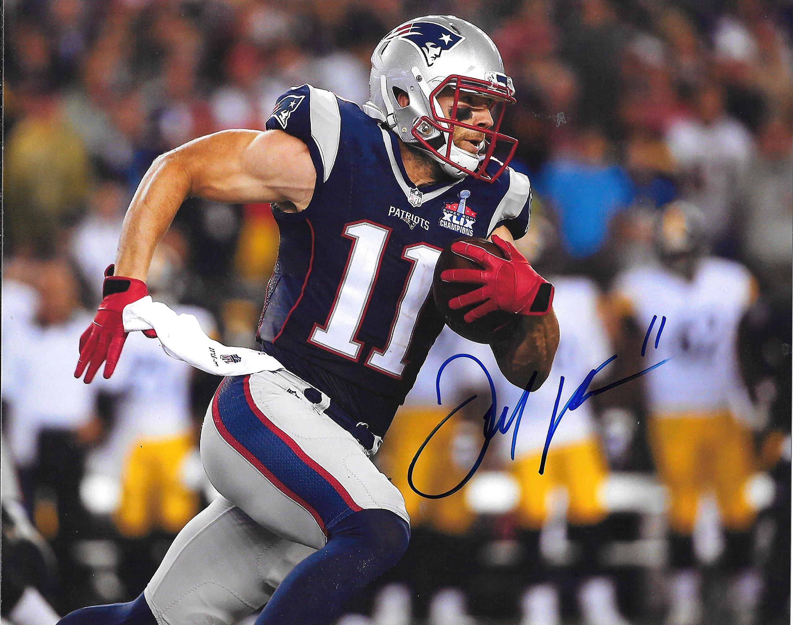 Julian Edelman Patriots Autographed Signed 8x10 Photo COA Mint Condition