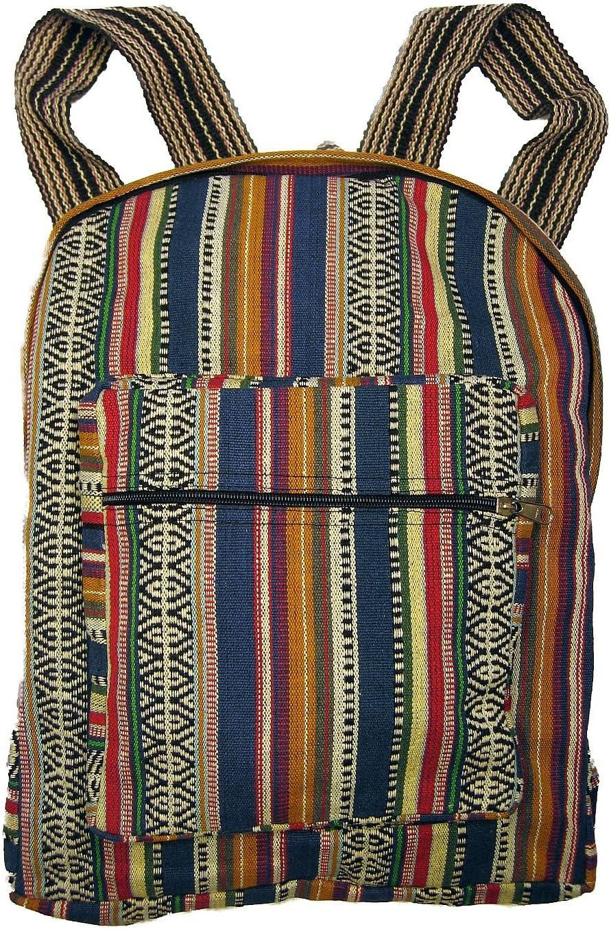 Student Backpack Hippie Carpet Rucksack Travel Bag Ethnic Tapestry Bag TRIBAL LEATHER BACKPACK Tan Vintage Woven Kilim Backpack