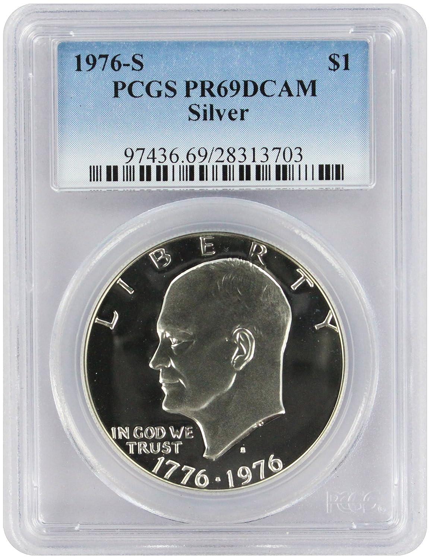 1990 P $1 Eisenhower Silver Commemorative Dollar PCGS PR69DCAM