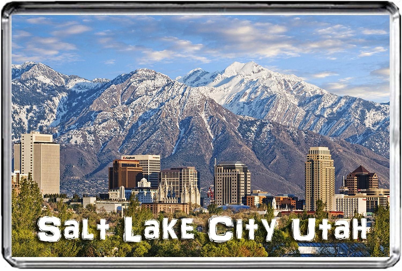 USA E346 Salt Lake City Utah Aimant pour Le FRIGO Travel Photo Refrigerator Magnet