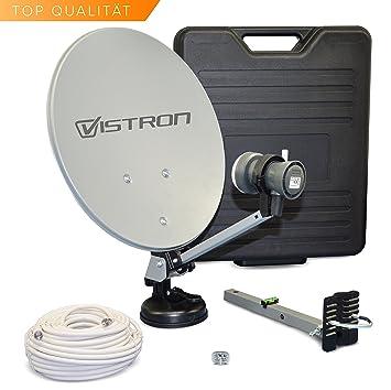 Camping maieta SAT-instalación HDTV digital con 20 M de cable coaxial y Sharp de