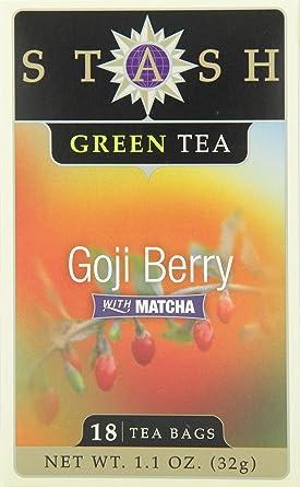 Stash Tea Goji Berry Green Tea Bags 18 Count Boxes Pack Of 6