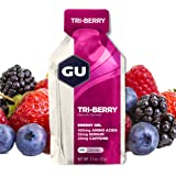 GU Energy Original Sports Nutrition Energy Gel, Tri-Berry, 24-Count Box