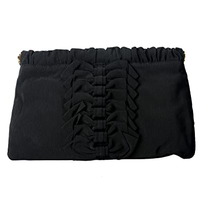 879c579249 Red Valentino Women's Black Canvas Bows Decorated Clutch Bag: Handbags:  Amazon.com