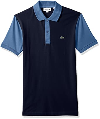 6e50f80451a3cf Lacoste Men s Short Sleeve Color Block Pique Pima Stretch Slim Polo ...