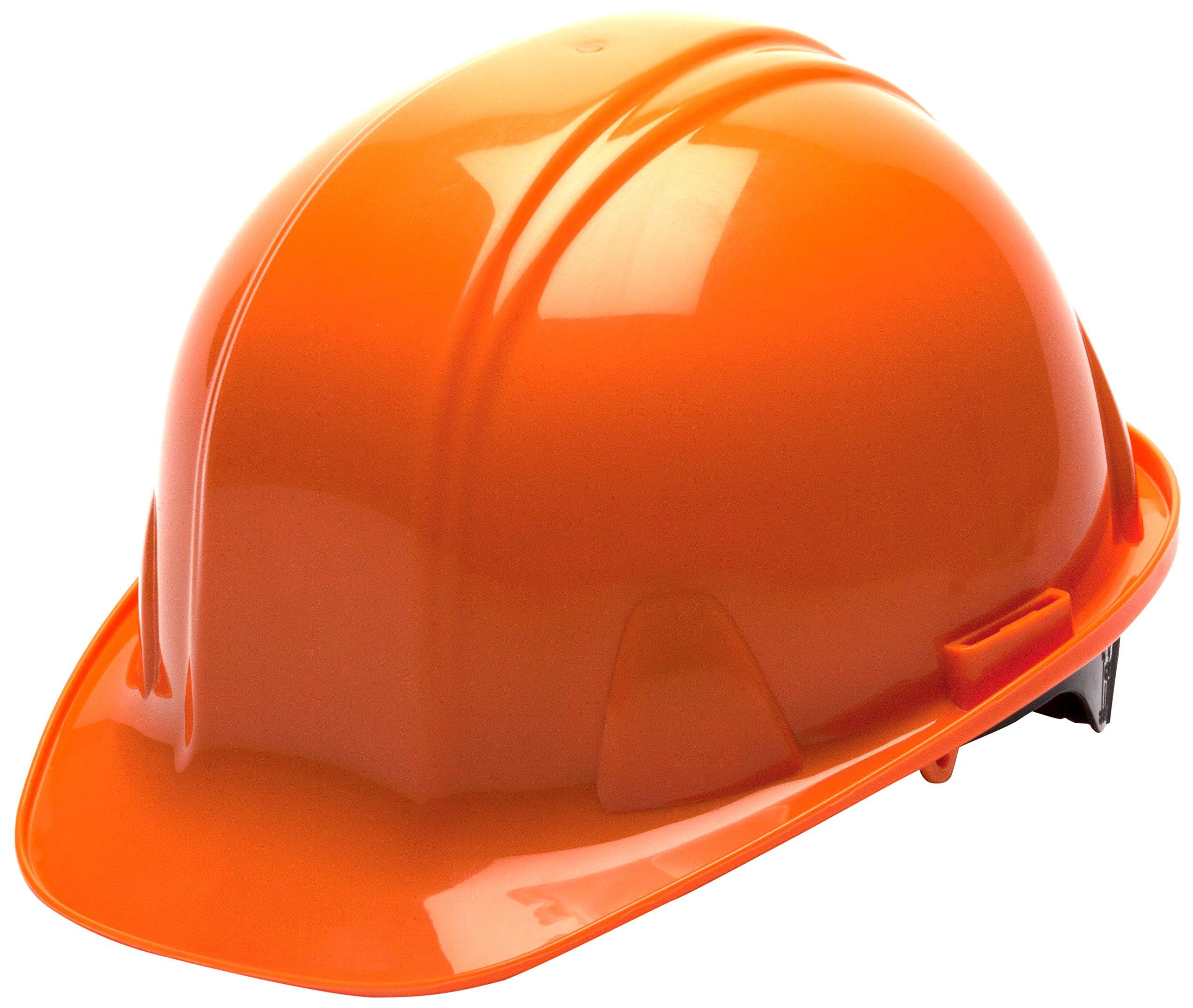 Pyramex Standard Shell Snap Lock Suspension Hard Hat, 4 Point Snap Lock Suspension, Orange