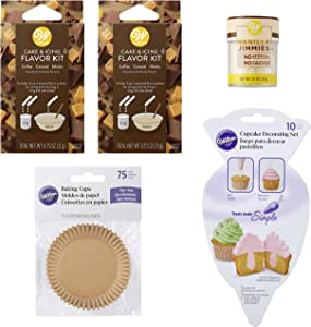 Wilton Coffee, Caramel and Mocha Flavors Cupcake Baking and Decorating Set, 5-Piece